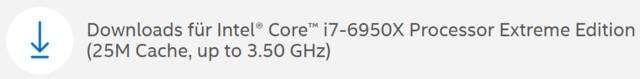 Core i7-6950X alias Broadwell-E auf Intels Support-Seiten