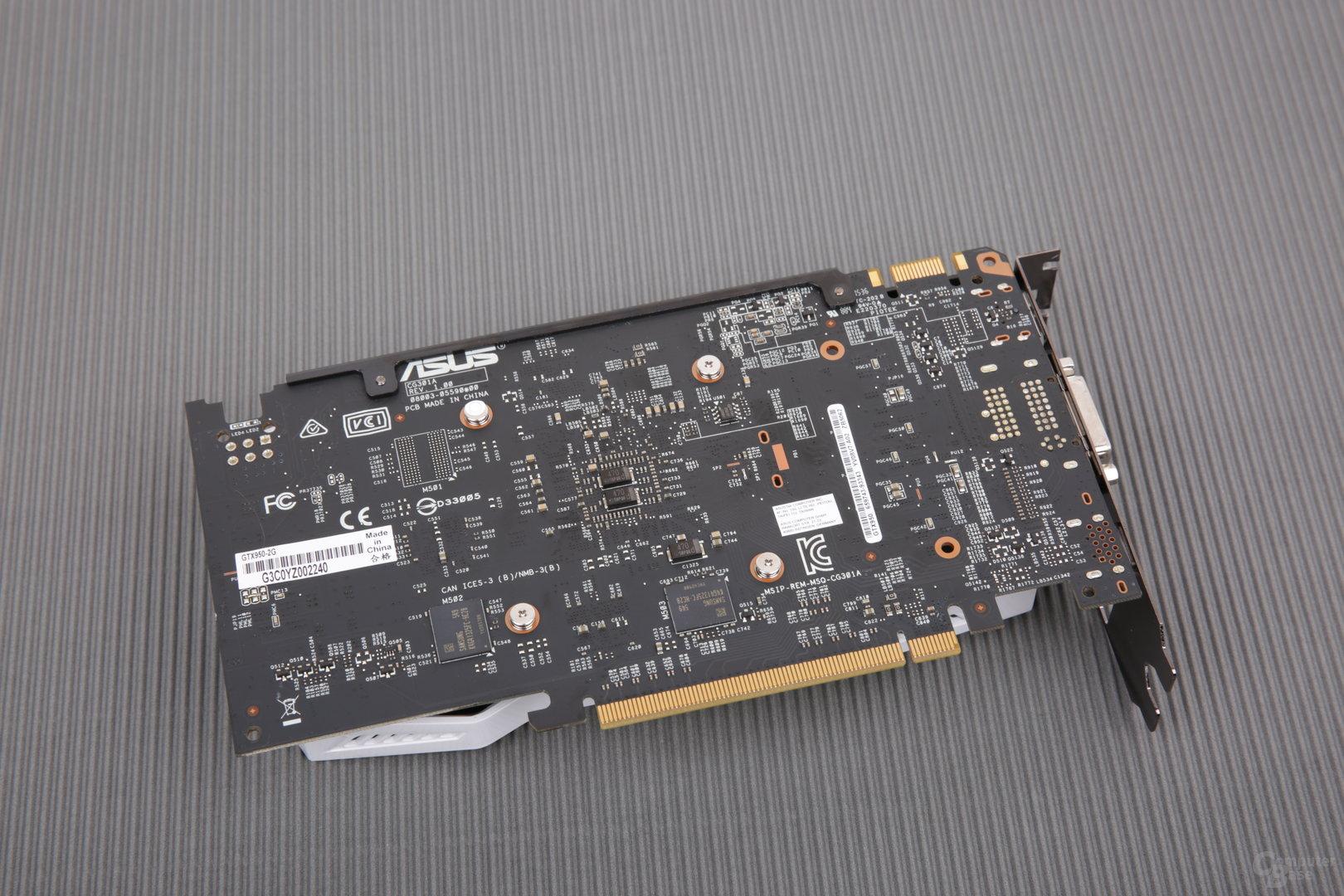 Asus GeForce GTX 950 2G – Rückseite