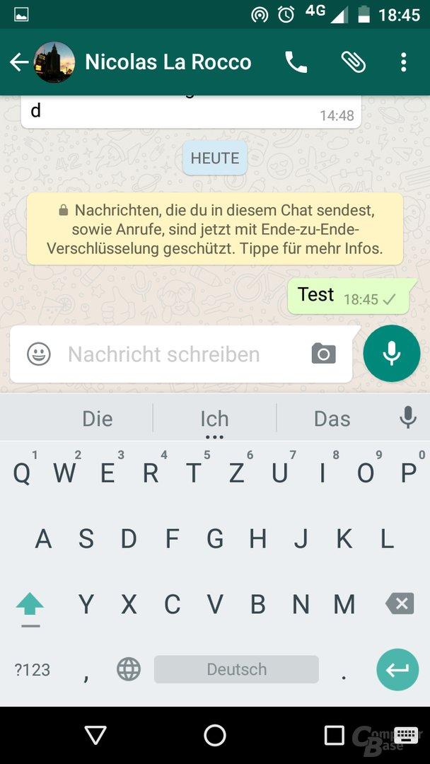 Ende-zu-Ende-Verschlüsselung in WhatsApp