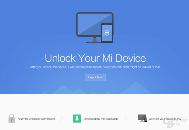 Bootloader Unlock bei Xiaomi