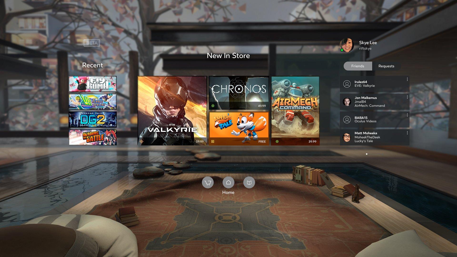 Oculus Home kommt edel daher
