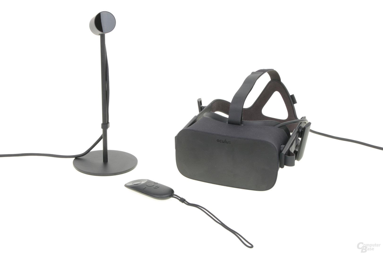 Kamera, Fernbedienung und Headset