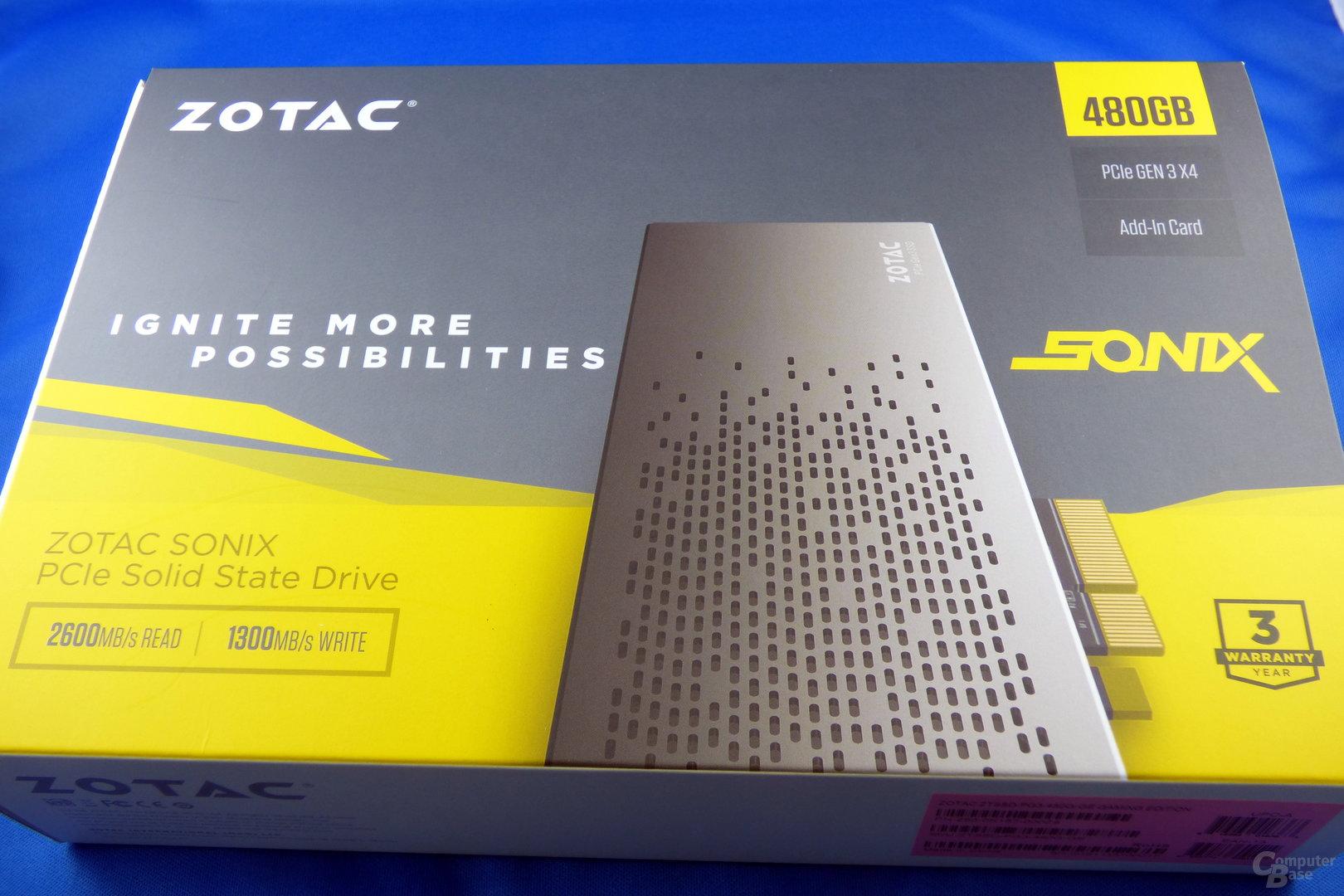 Zotac Sonix PCIe SSD in der Verpackung