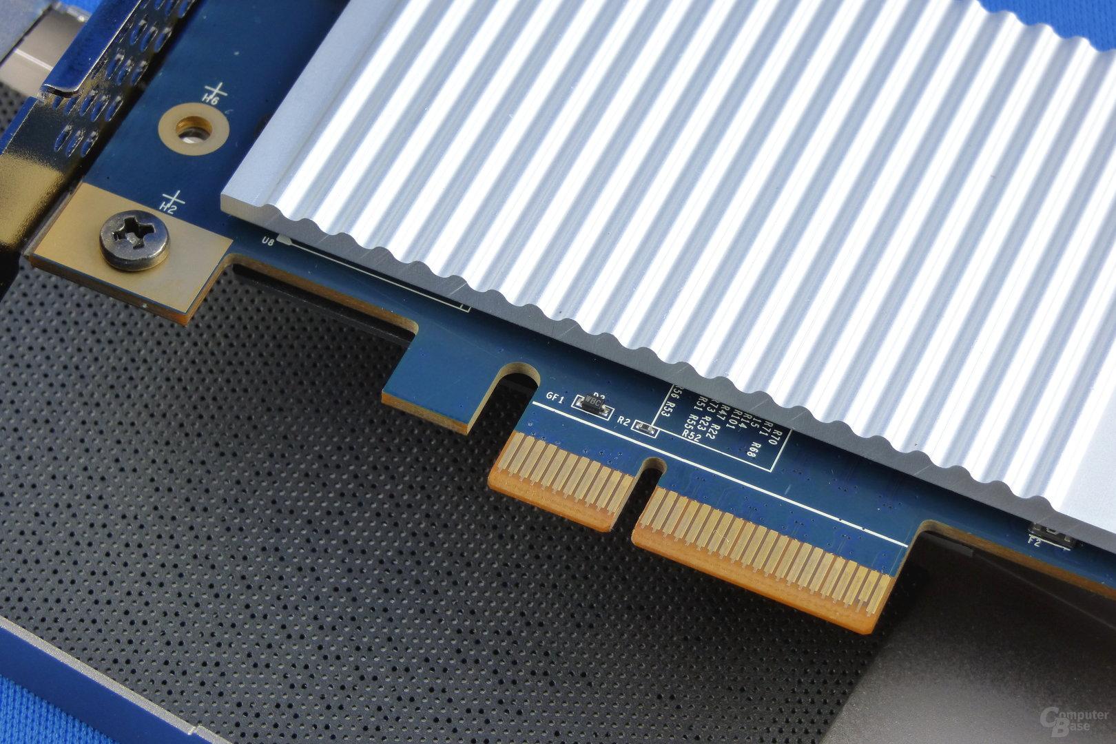 Der Kühlblock der Zotac Sonix PCIe SSD