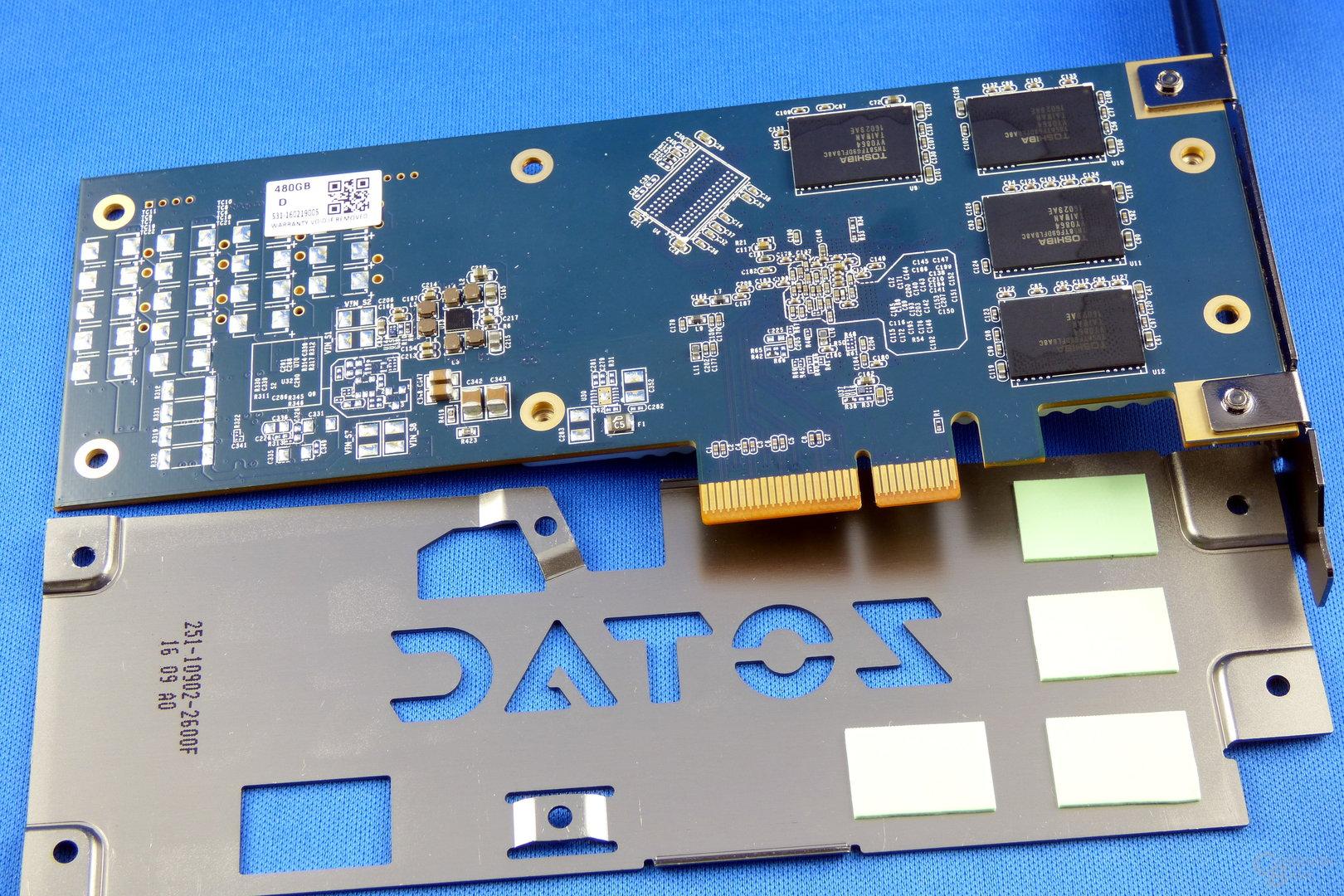 Zotac Sonix PCIe SSD und Backplate