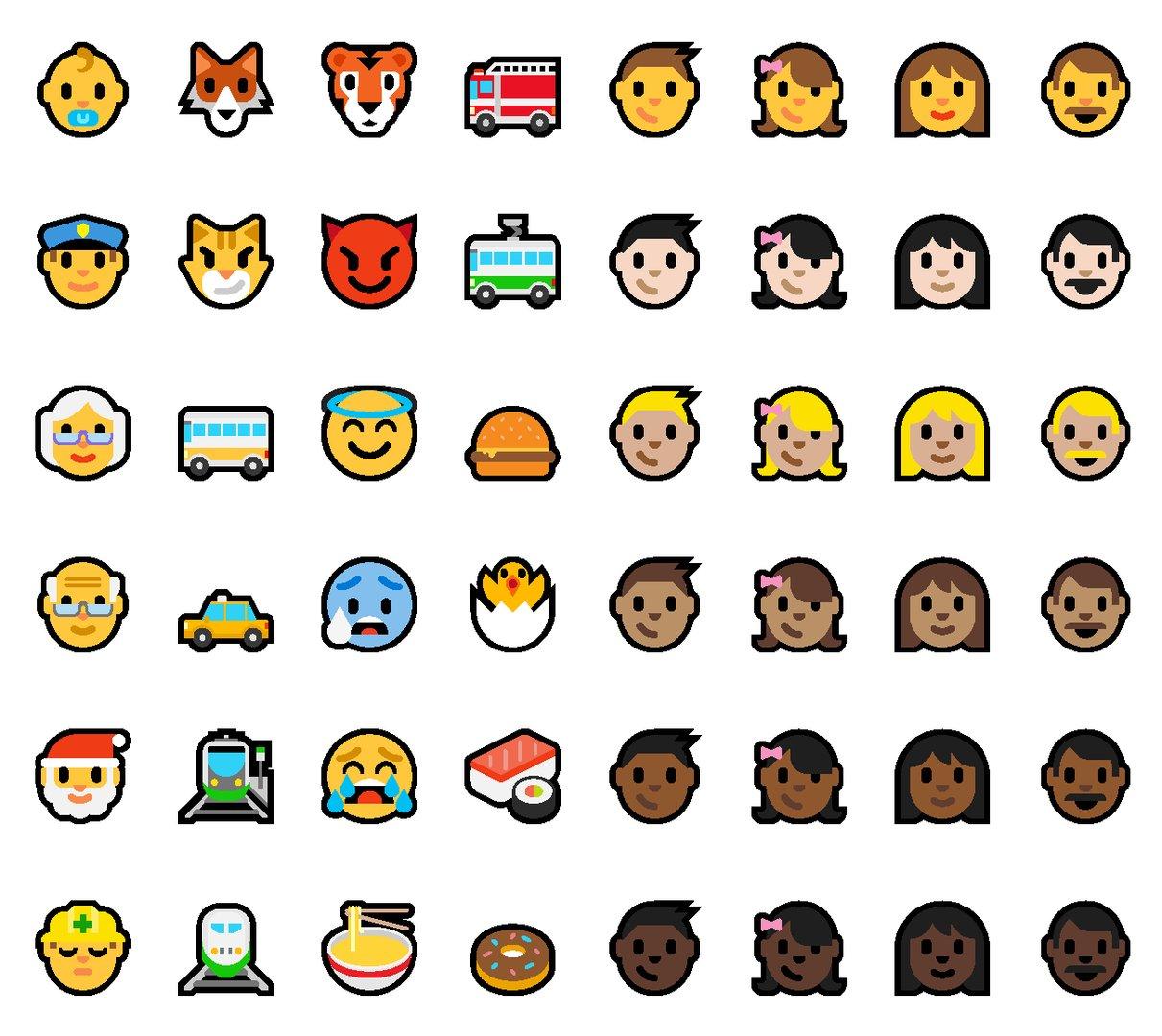 Überarbeitetes Emoji-Design
