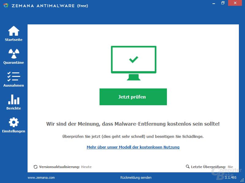 Zemana AntiMalware (Free) – Übersicht