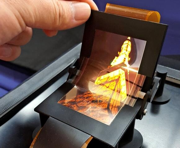 Biegsames OLED-Display von Sharp