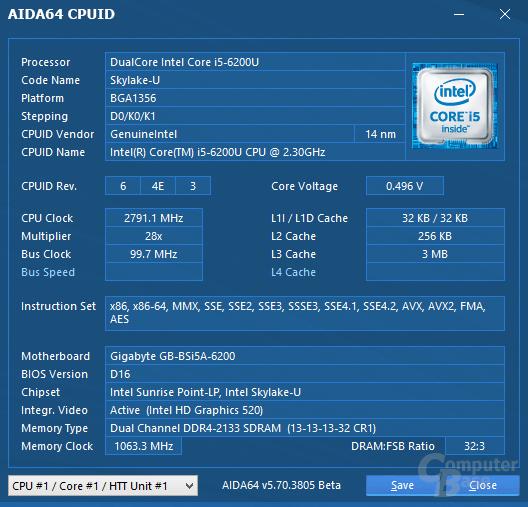 Brix GB-BSi5A-6200 vor BIOS-Update