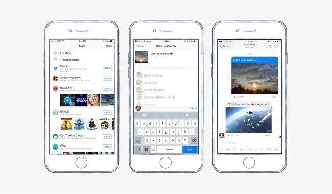 Dropbox-Schnittstelle in Messenger