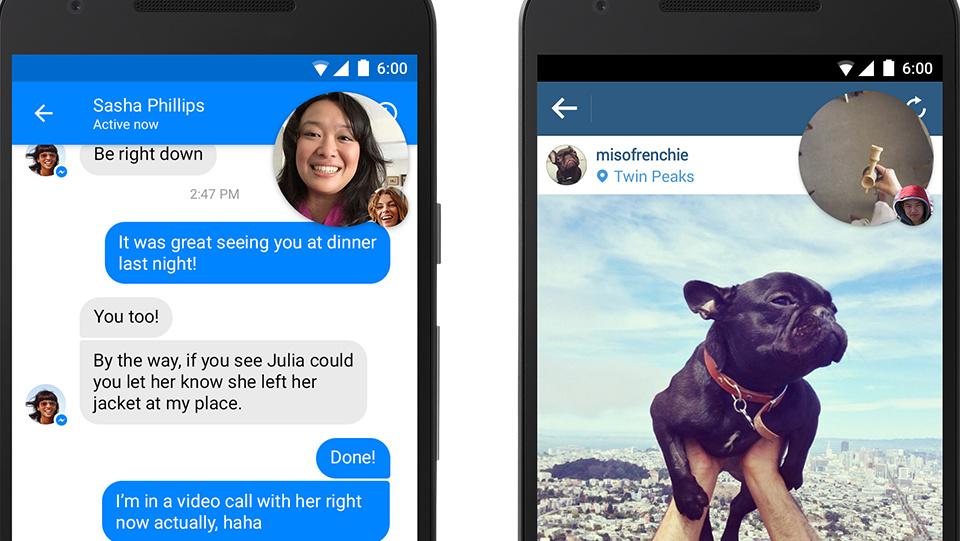 Facebook Messenger: Video-Chat-Heads und Dropbox-Schnittstelle