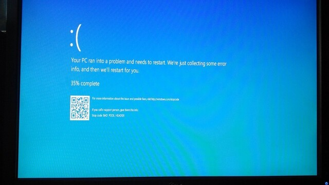 Neuer Blue Screen of Death