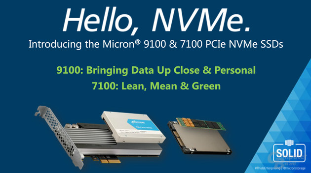 Micron 9100 (links) und 7100 (rechts) als neue PCIe-SSDs mit NVMe