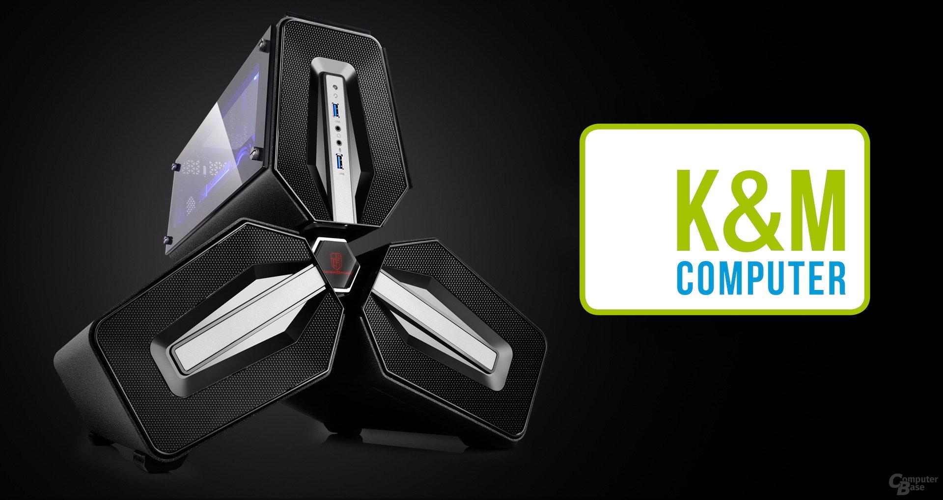 Ein Gaming-PC mit Hardware von K&M Computer im Deepcool Tristellar