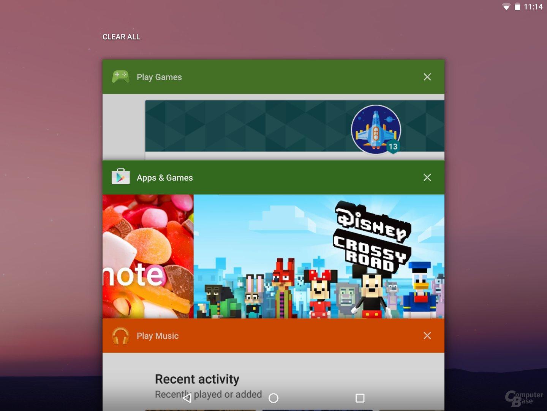 Schaltfläche, um alle Apps zu entfernen