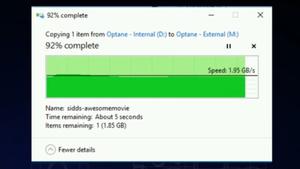 3D XPoint: Intel Optane SSD kopiert 25 GByte in unter 15 Sekunden
