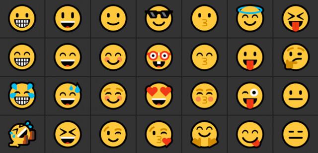 Ein Ausschnitt der neuen Emojis