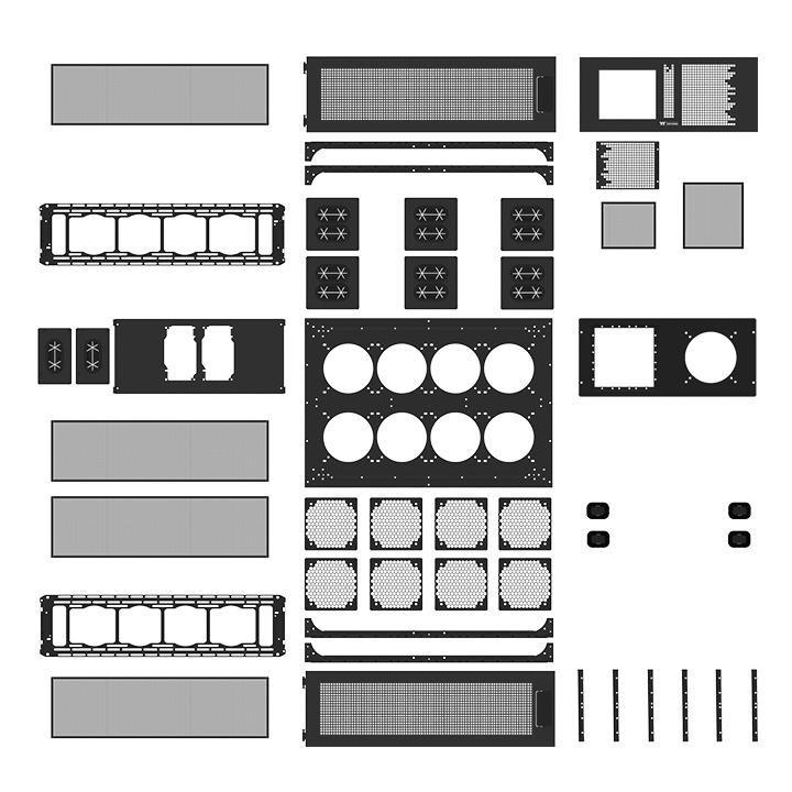 Thermaltake Core WP200 – Einzelteile