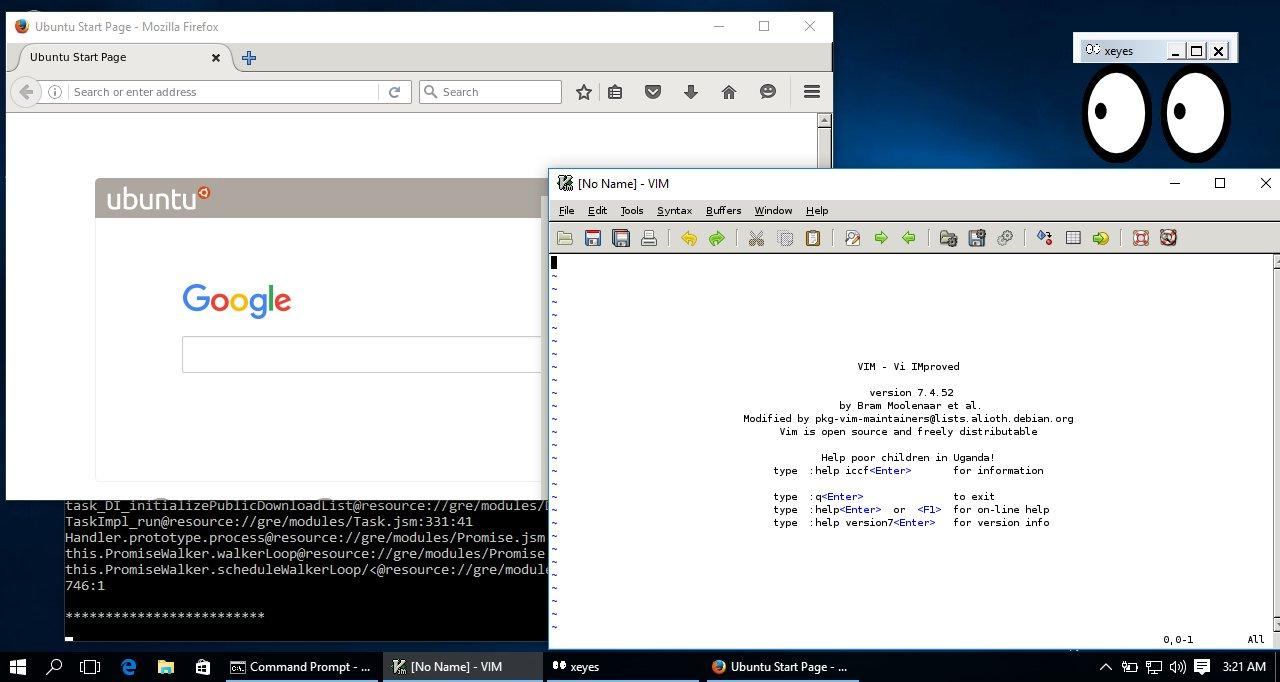 Linux-Apps in Windows 10