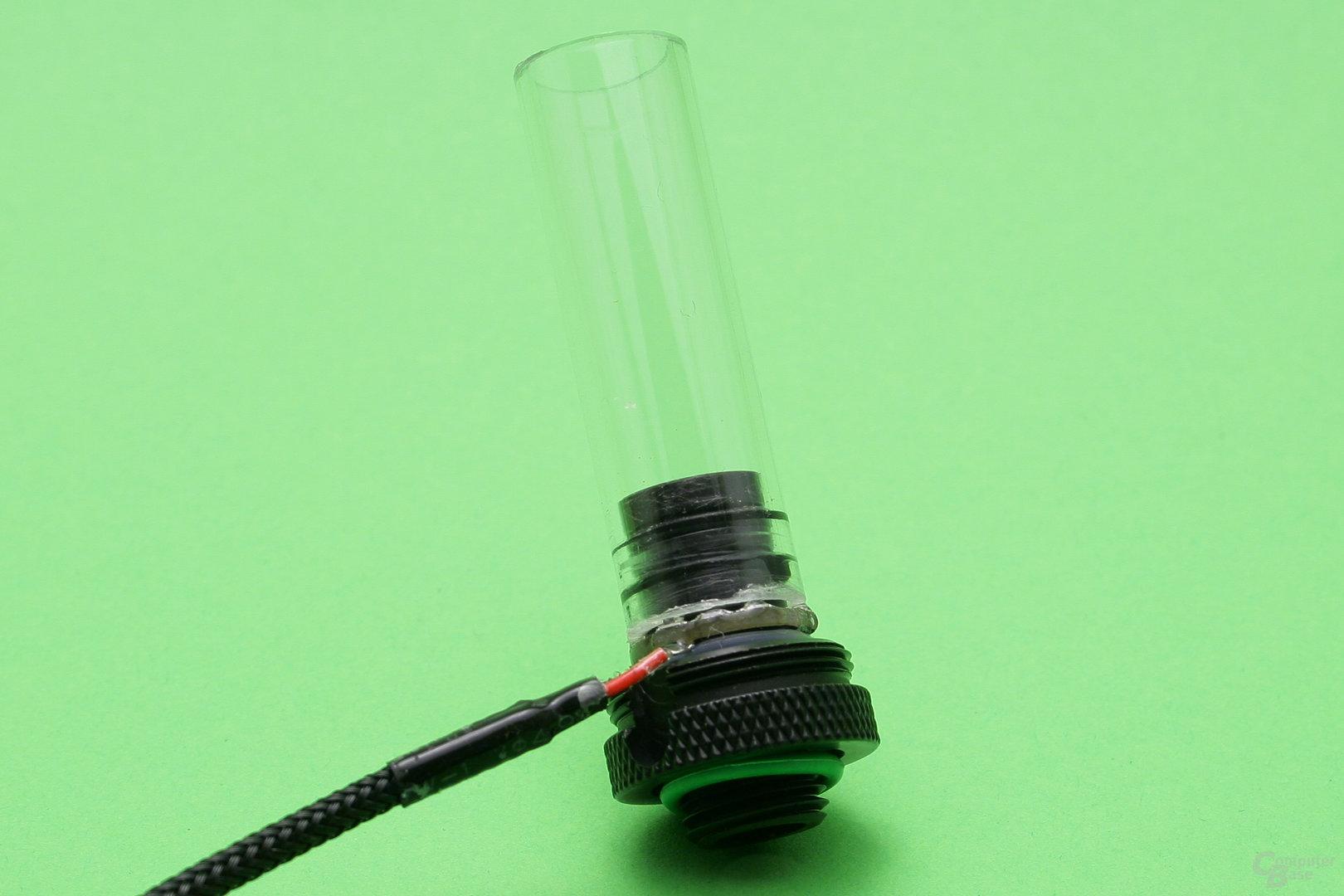 CoolForce LED-Fitting mit PETG-Rohr: Dichtungsringe sind innen angebracht