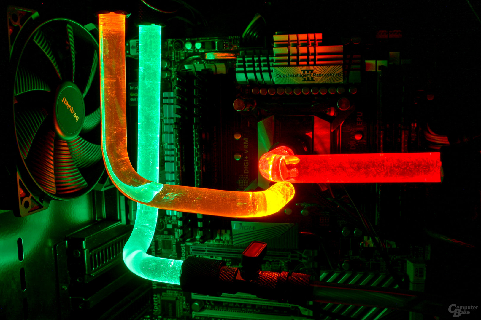 CoolForce LED-Fittings mit PETG-Rohren im Testsystem