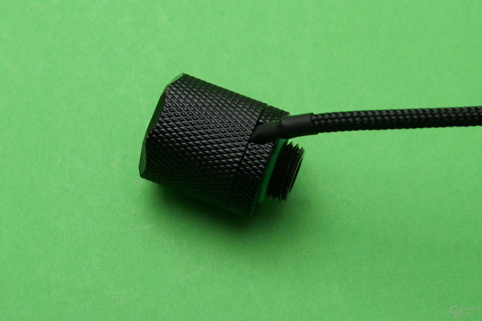 CoolForce LED-Fittings: Shrink soll unter der Überwurfmutter liegen