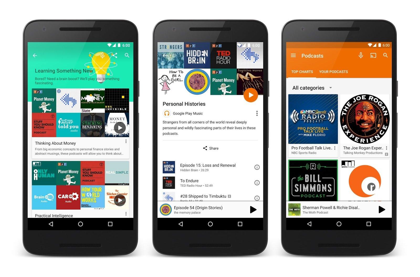 Podcasts nun auch auf Play Music – zunächst nur für Nutzer aus den USA und Kanada