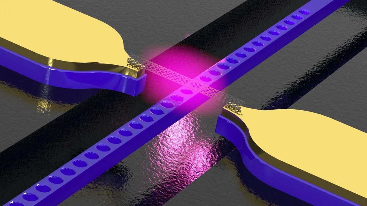 Nanophotonik: Kohlenstoffnanoröhren als Lichtquelle für Chips