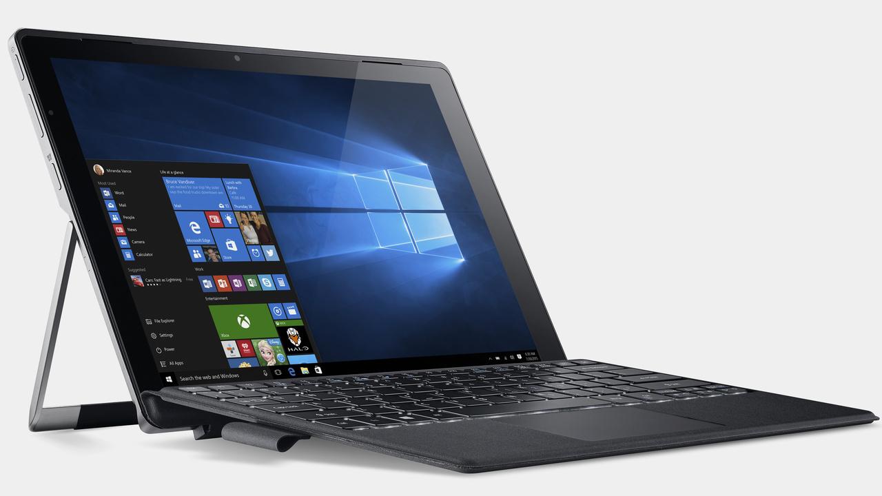 Lüfterloses 2-in-1: Acer Switch Alpha 12 isttrotz Core-i-CPU passiv gekühlt