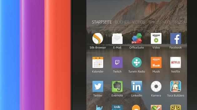 Amazon Fire-Tablets: Einsteigermodell erhält mehr Speicher und neue Farben