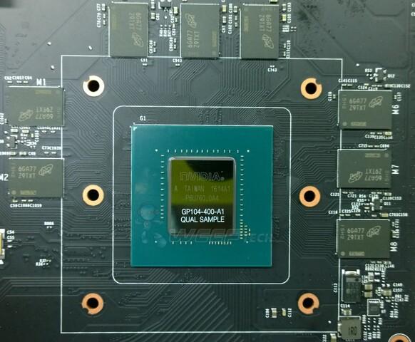 Pascal-GPU (GP104-400) mit 8 GByte GDDR5X