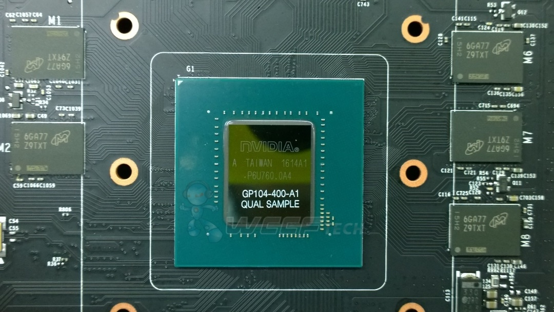 Nvidia GeForce GTX 1080: Pascal GP104-400 mit 8GByte GDDR5X von Micron