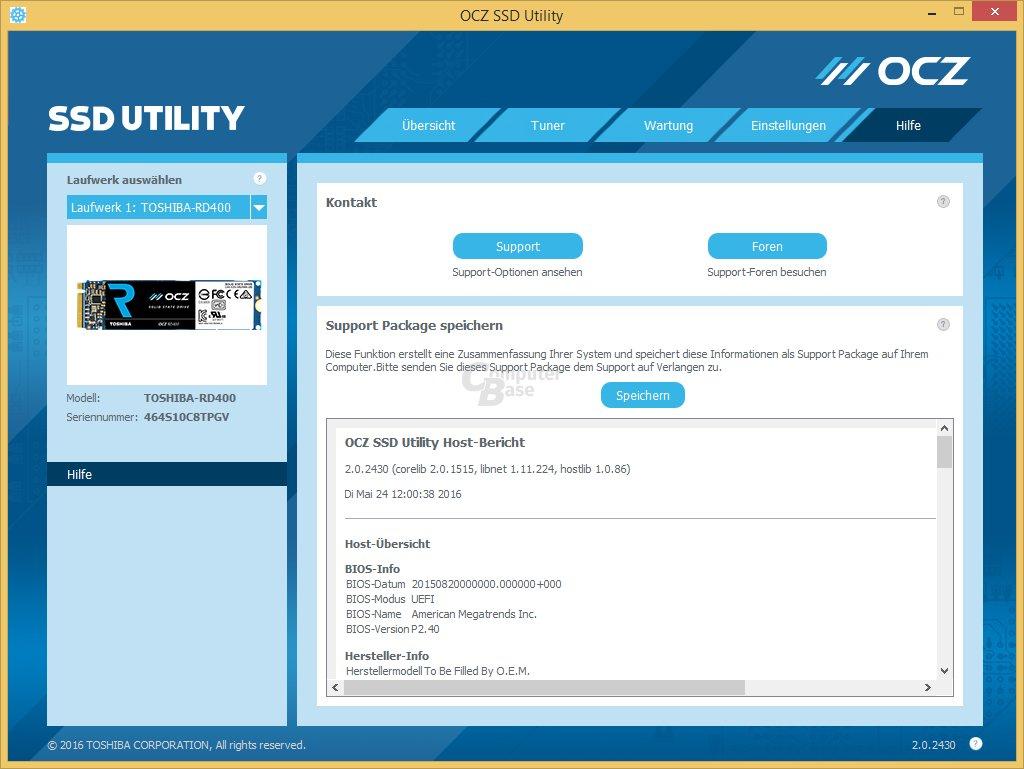 OCZ SSD Utility: Hilfe und Support