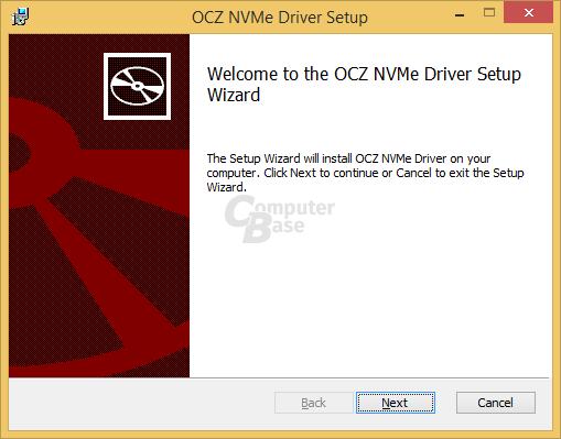 Installation des NVMe-Treiber von Toshiba/OCZ