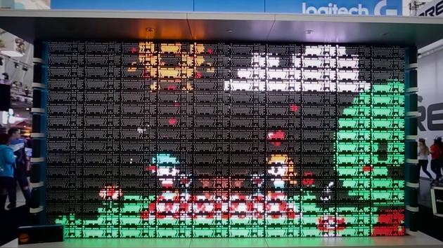 Logitech: 160 Tastaturen ergeben eine Leinwand