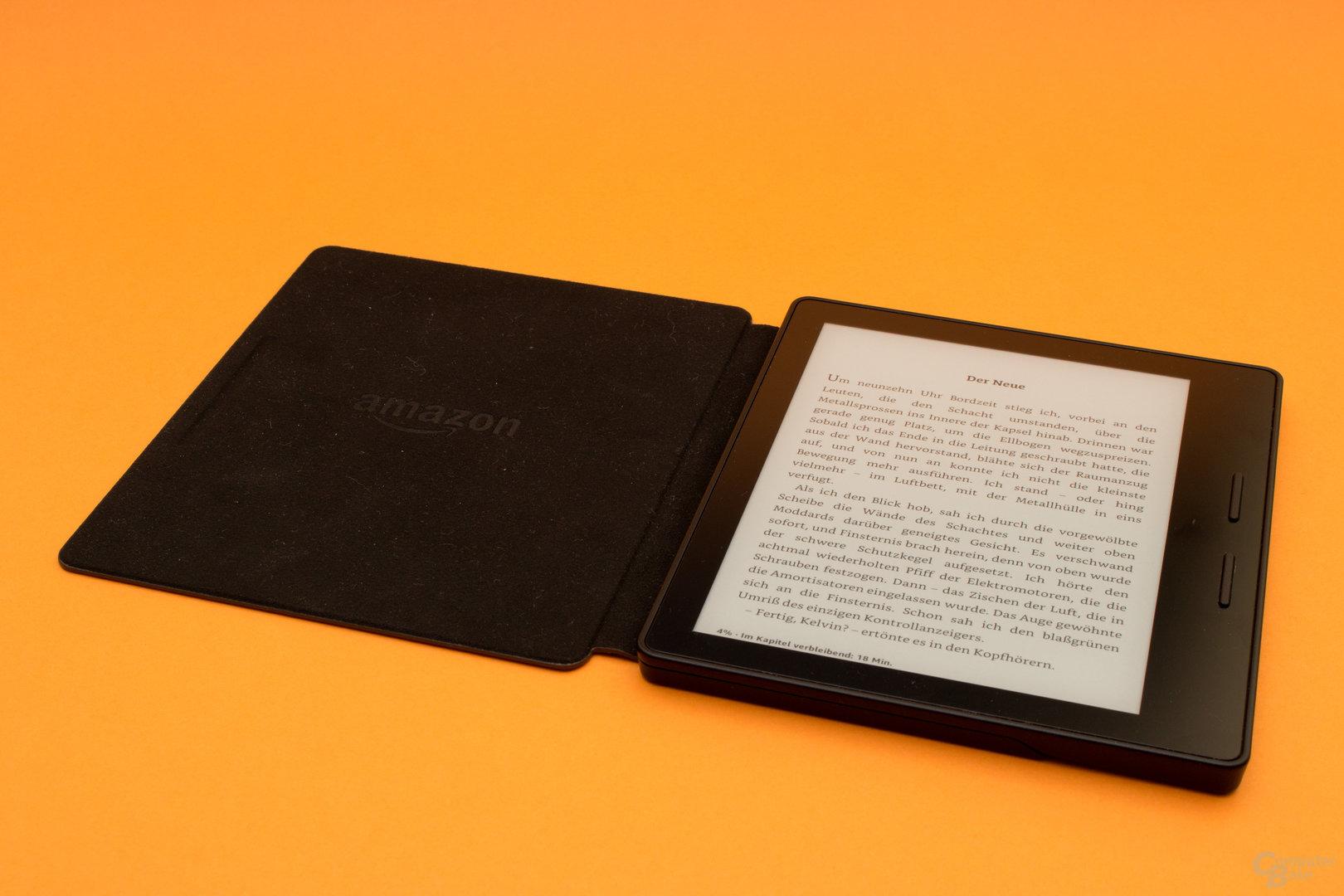 Kindle Oasis mit Akku-Hülle für längere Laufzeiten