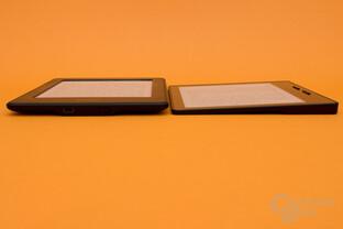 Größenvergleich Kindle Paperwhite und Kindle Oasis