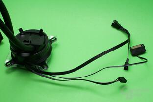 Cryorig A40 Ultimate: Kabelsammlung an der Kühlereinheit