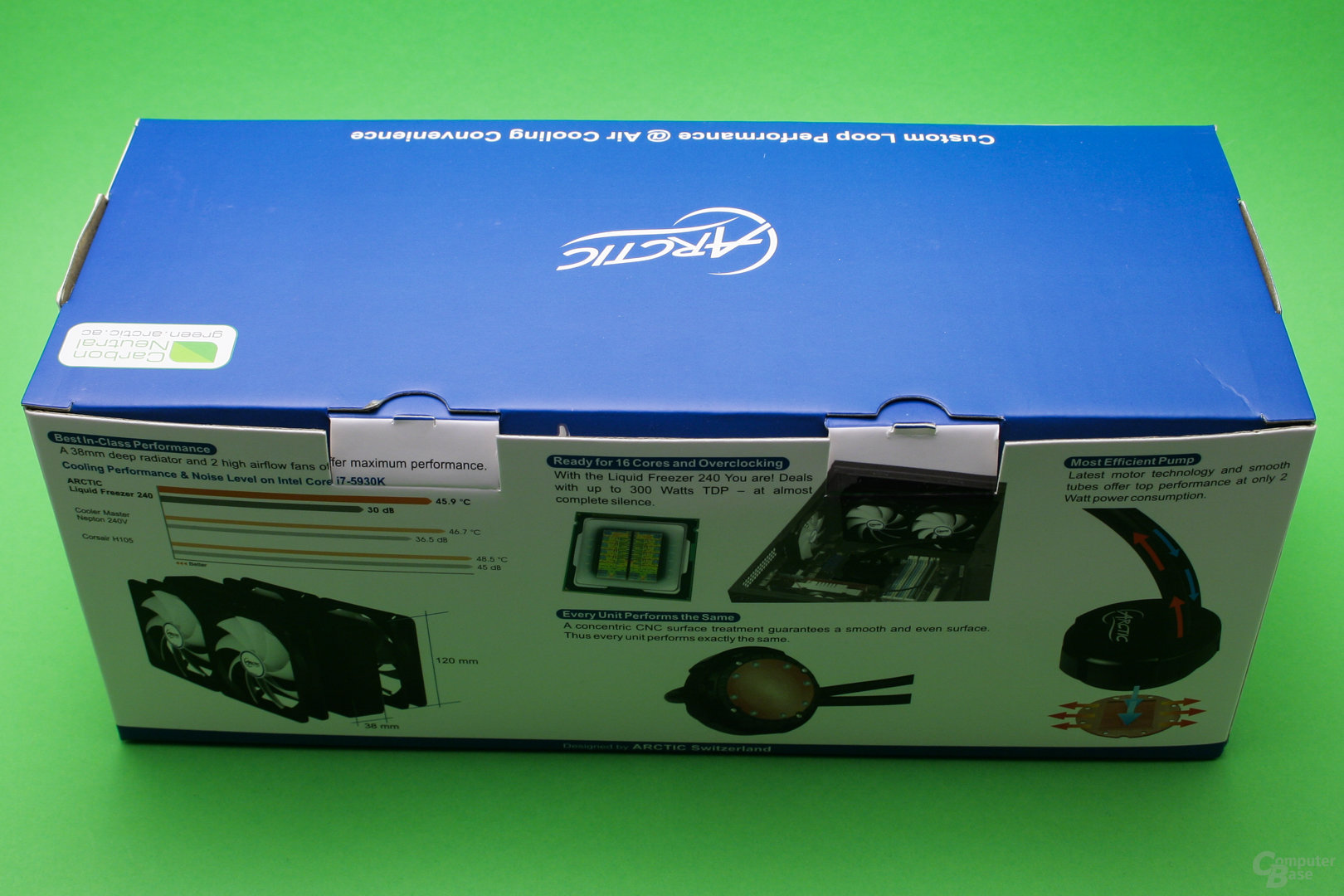 Arctic Liquid Freezer 240: Verpackung ist etwas klein