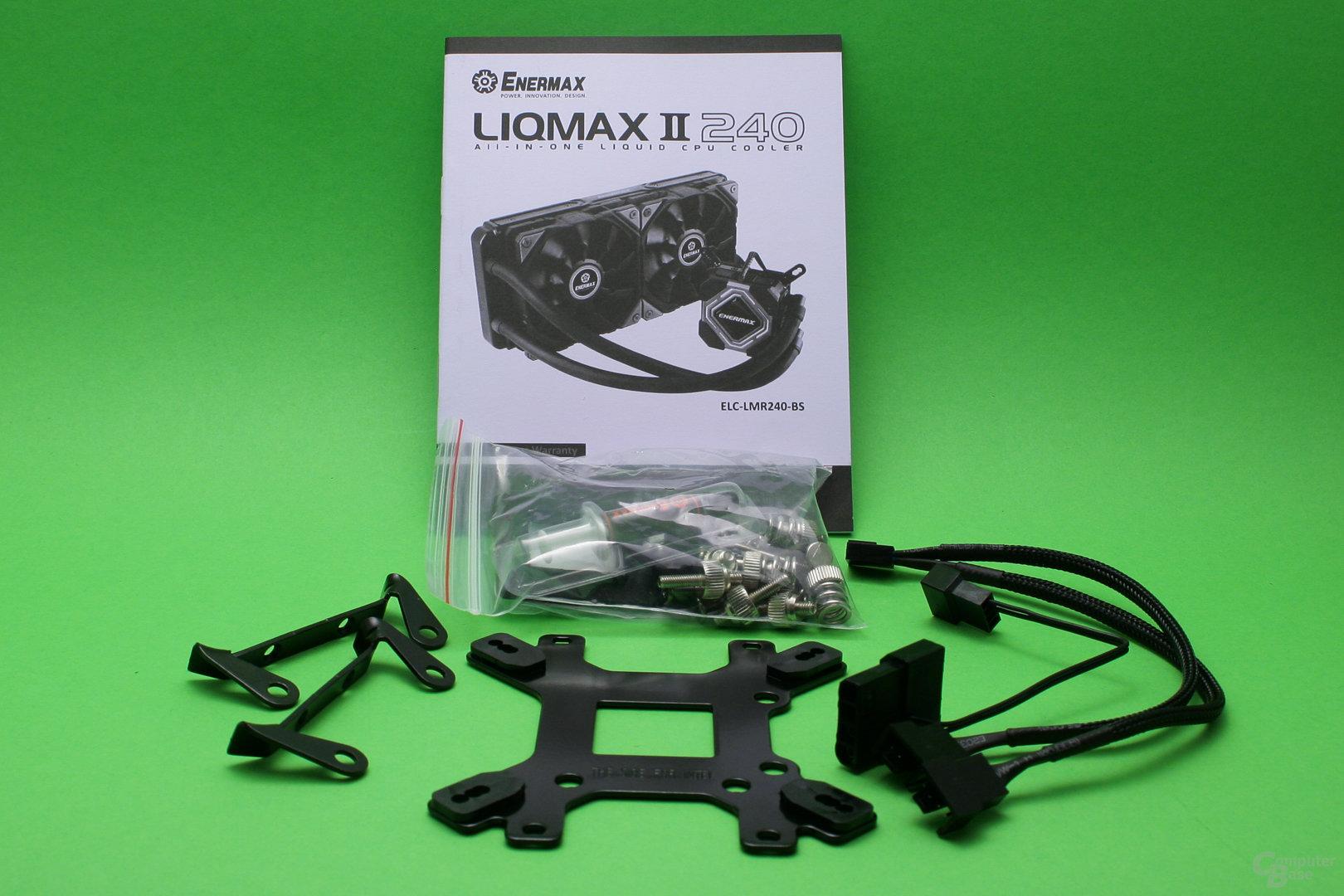 Enermax Liqmax II 240: Lieferumfang