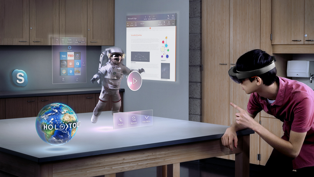 Microsoft HoloLens: Augmented-Reality-Headset mit Tablet-Hardware