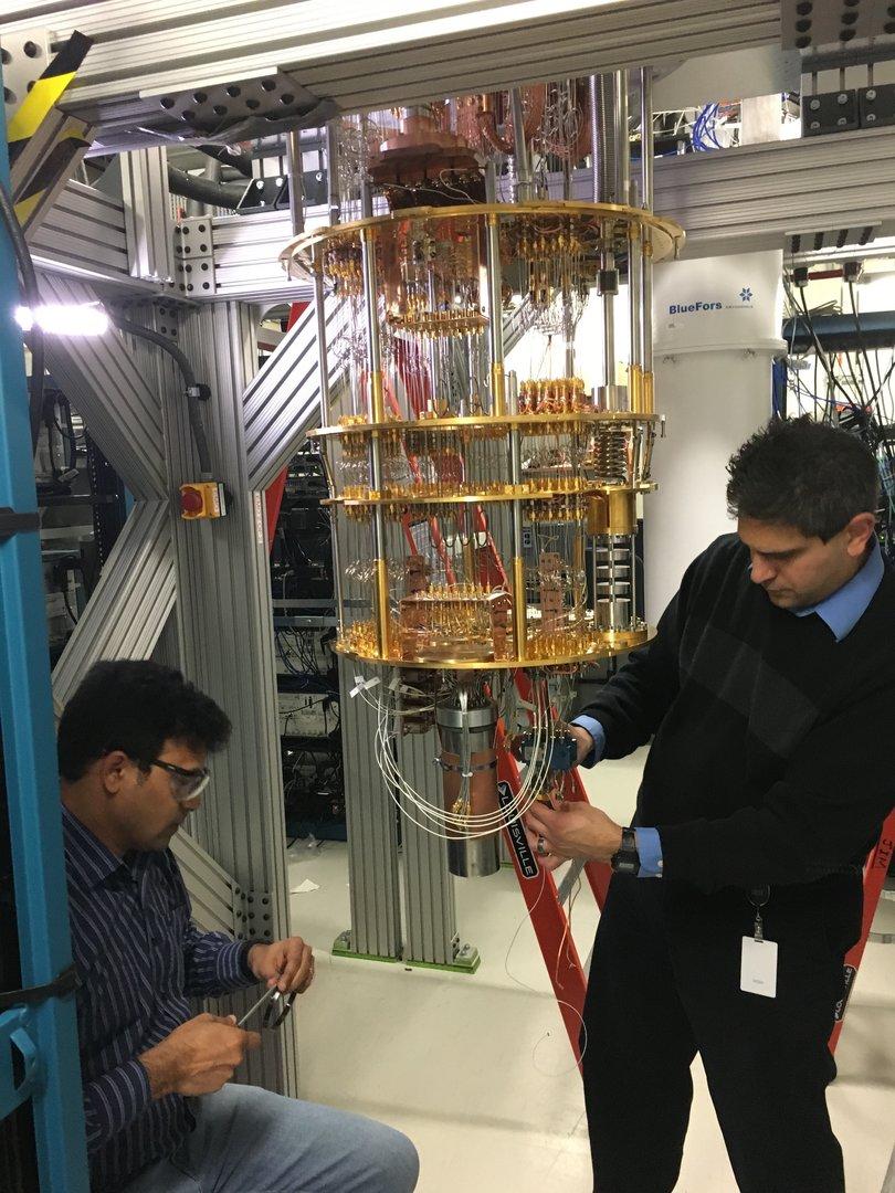 Vorbereitungen für ein Quantencomputer-Experiment