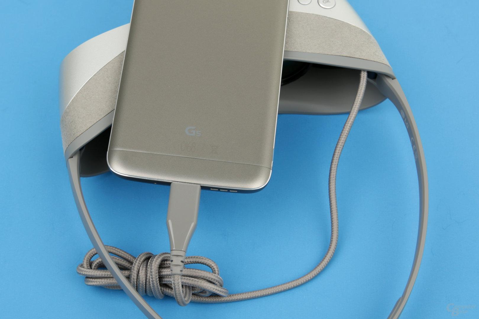 Verbindung per USB-Kabel mit 1 Meter Länge
