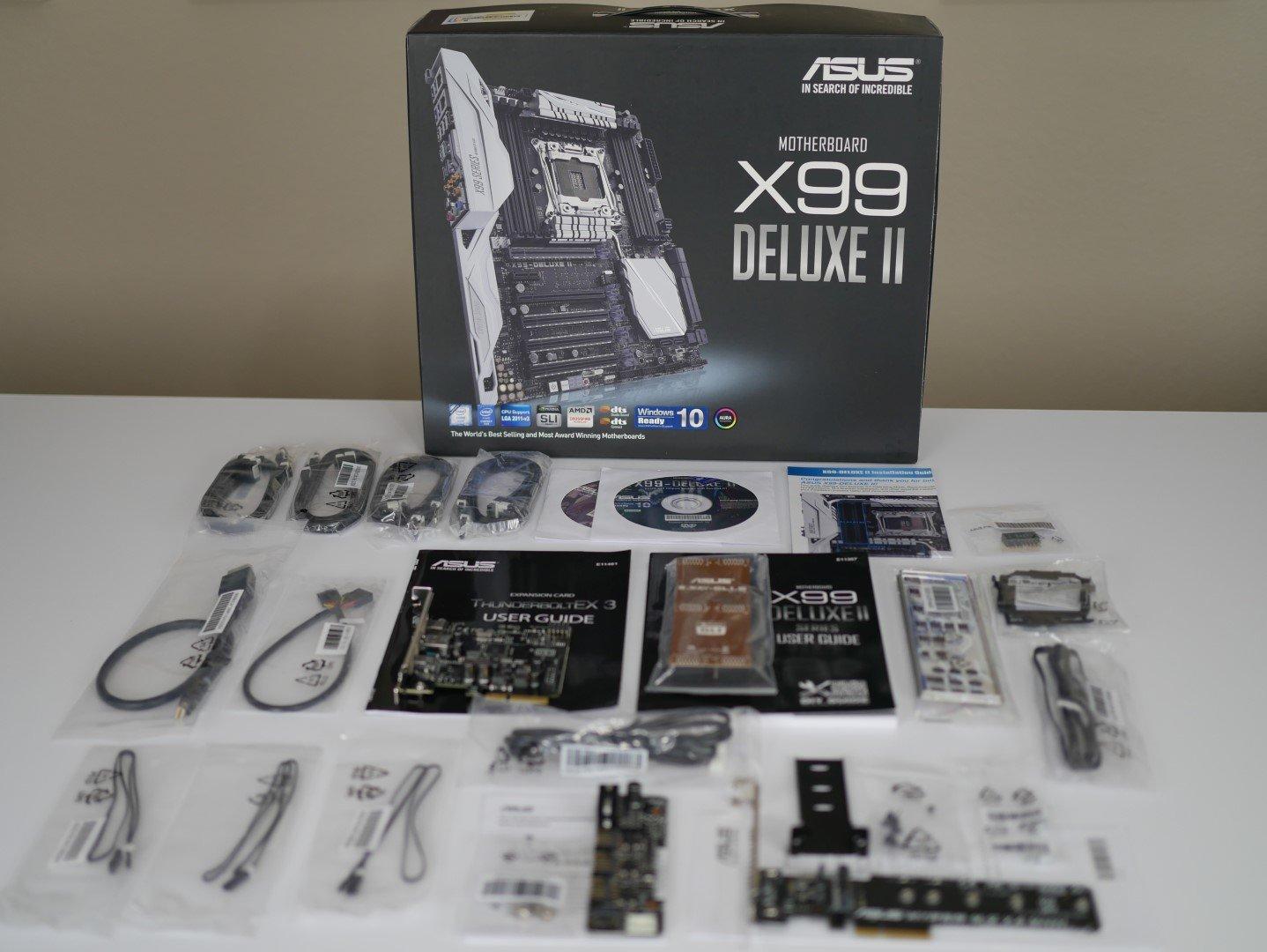 Allerlei Zubehör zum Asus X99-Deluxe II