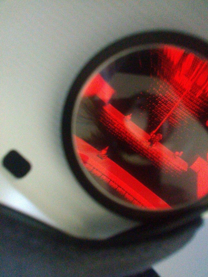 Blick durch die Gear-VR-Linse auf die Virtual-Boy-Emulation auf dem Smartphone (Stereoskopie)