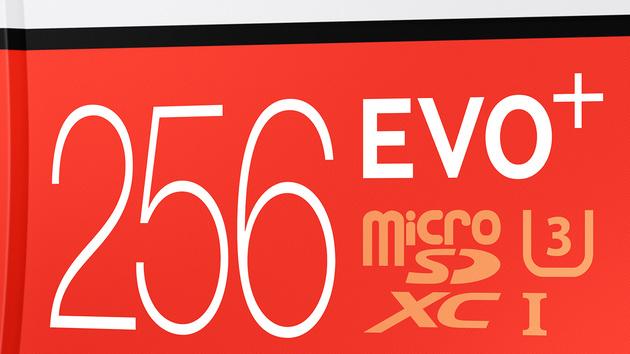 microSD EVO Plus: Samsung verdoppelt den Speicherplatz auf 256 GByte