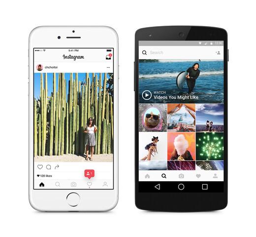 Neue Benutzeroberfläche der Instagram-Apps