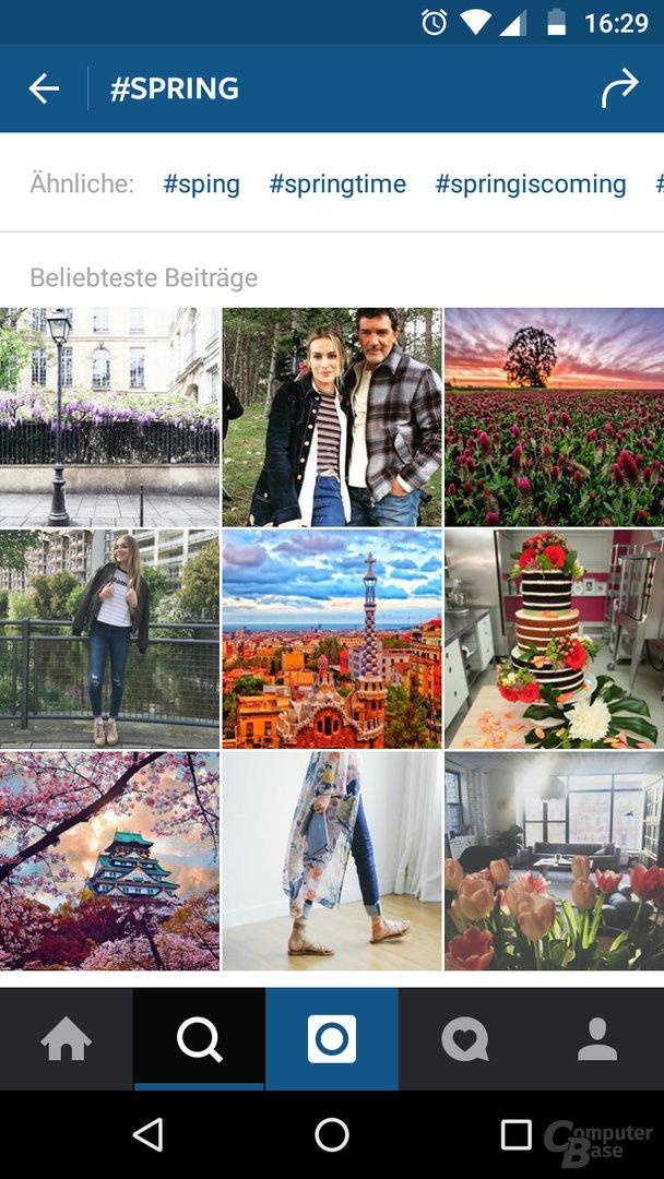 Alte Instagram-Benutzeroberfläche