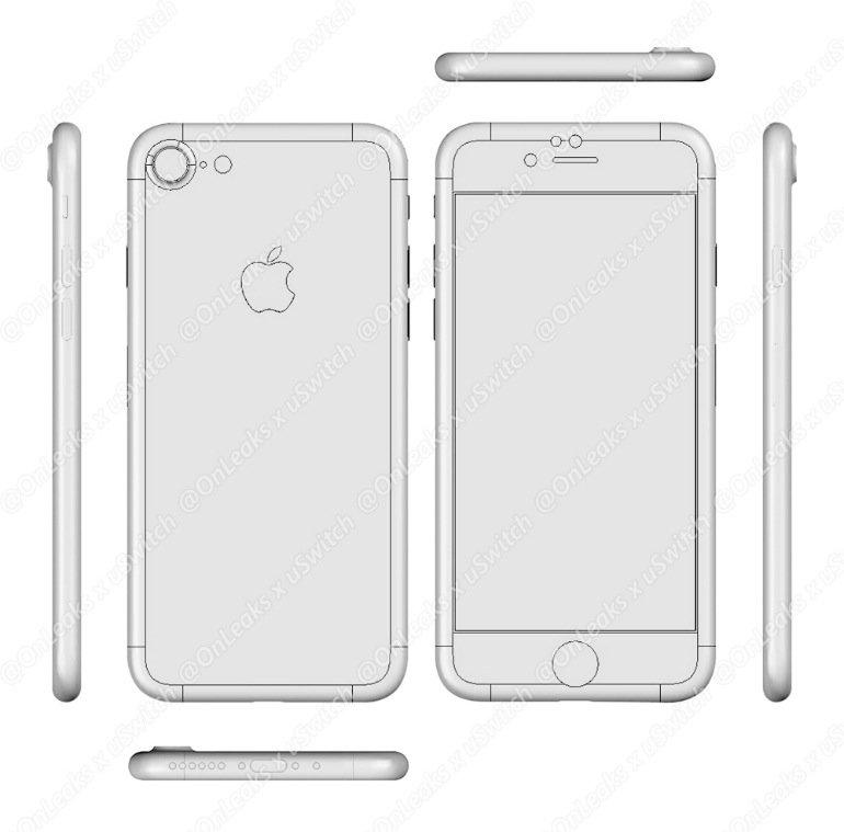 Blaupause des iPhone 7