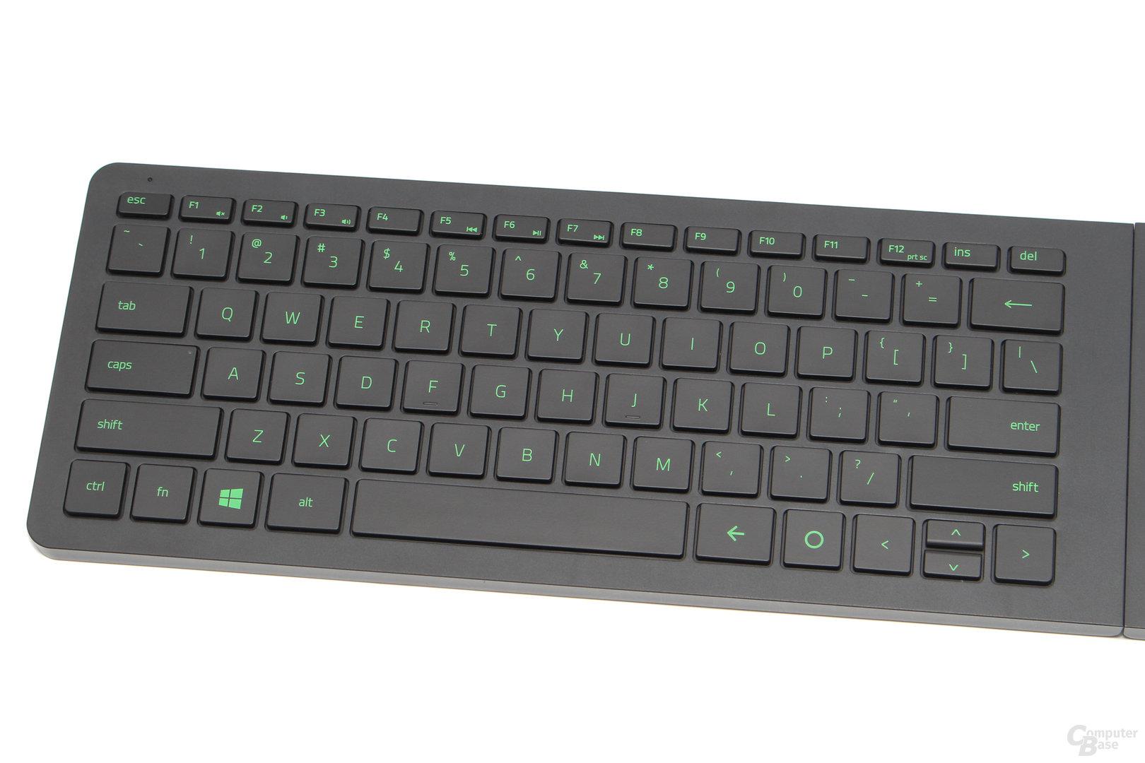 Das kompakte Tastaturmodul verfügt über 77 Tasten